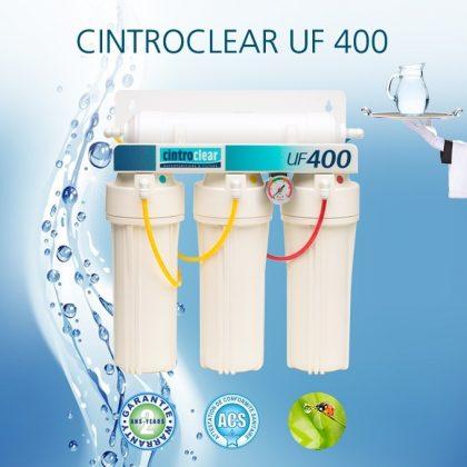 Cintroclear UF400 is an ultrafiltration tap water purifier