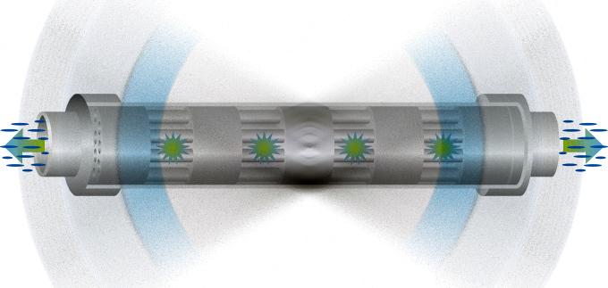 Action de l'électrolyse galvanique du réacteur Galvac ion 25 illustrée