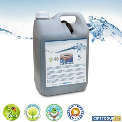Charbon actif spécial eau de la marque Carbolite en jerrycan de 5 litres avec bec verseur exclusivement en vente dans AGUAGREEN | Cintropur SHOP