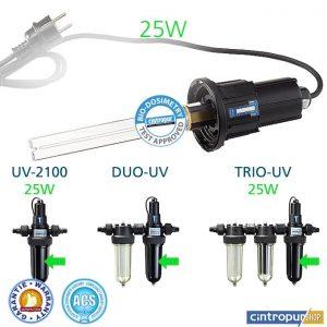 Lampe UV 25W Cintropur pour modèles de stérilisateurs d'eau 2100, DUO-UV, DUO-UV-CTN 25w, TRIO-UV 25w, TRIO-UV-DUO 25w