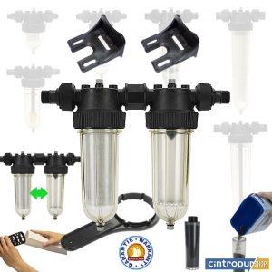 Filtre à liquide double modèle Cintropur NW 25 DUO CTN de la gamme Domestic Line